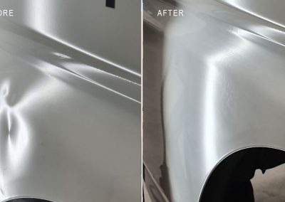 Multiple-bodyline-dents-repaired-on-Van's-door